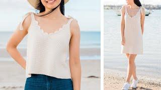 Scallop Tank Top + Dress Crochet Tutorial