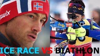 Martin Fourcade VS Petter Northug. The Race of the champions MEN 10.04.16 Russia Tyumen