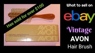 What to Sell on eBay: Vintage Avon Hair Brush