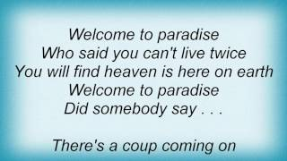 10cc - Welcome To Paradise Lyrics