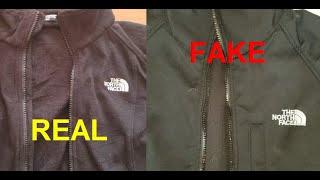 Real vs Fake North Face fleece. How to spot counterfeit Northface fleece jacket