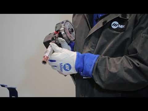 Сварка алюминиевого сплава при помощи сварочный пистолет с катушкой Miller Spoolmate 150