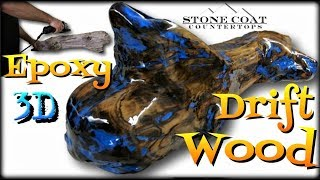 3D Epoxy Drift Wood With My Hands