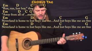 Lost Boy (Ruth B) Guitar Cover Lesson with Chords/Lyrics