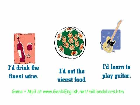 Learn English: If you had a million dollars ( If...I'd)