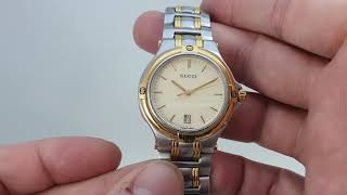 C1997 Gucci 9000 Series Mens Vintage Watch.  Model Reference 9040M
