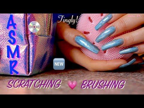 ◈ New BRUSHING! 😴 + nail SCRATCHING in HOLO theme! 💿 🎧 intense ASMR ★