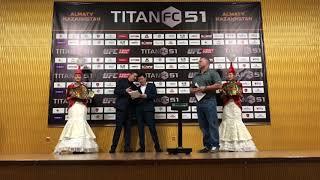 Взвешивание бойцов турнира ММА TITAN FC
