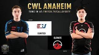 eUnited vs Elevate | CWL Anaheim 2019 | Day 1