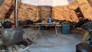 Палатка зимняя утепленная с печкой берег