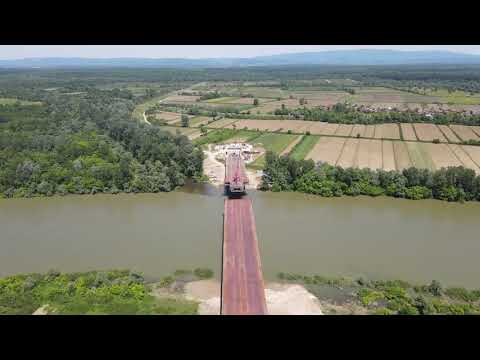 U avgustu spajanje čelične konstrukcije mosta na Savi kod Gradiške