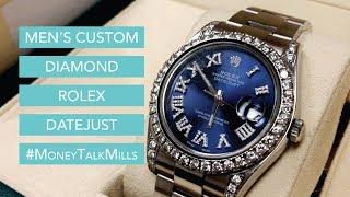 Men's Custom Diamond Rolex Datejust II