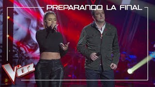 Javi Moya and Karol G rehearse in the set 'Dicen' | Preparing the Final | The Voice Of Spain 2019