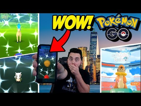 MY BEST (AND WEIRDEST) DAY OF POKEMON GO! Pokemon GO Shinies, Buizel, Giratina and More!