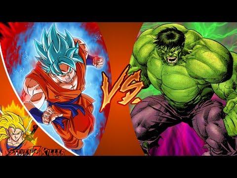 GOKU vs HULK! (Dragon Ball Z vs Marvel) Cartoon Fight Club Episode 187 REACTION!!!
