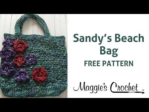Raffia Beach Bag Free Crochet Pattern - Right Handed