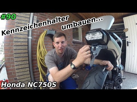 Werkstatt   Kennzeichenhalter umbauen   Honda NC 750S   Mr. Moto