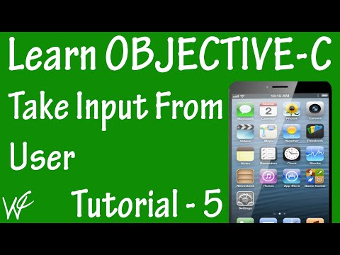 Free Objective C Programming Tutorial for Beginners 5 – Take Input From User in Objective C