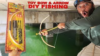 DIY Toy BOW and ARROW Fishing | Monster Mike