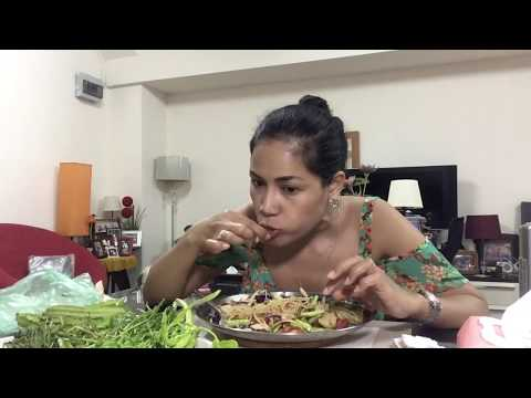 ยำขนมจีนรสเด็ดใส่ปลาร้าเทพธิดา Spicy Rice Vermecili Noodles Salad 18Mar2018