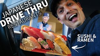 Japanese Drive-Thru Sushi & Ramen Experience ★ ONLY in JAPAN