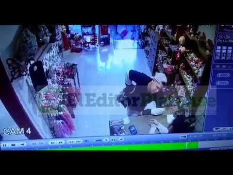 Un vendedor de medias encerró a una empleada en el baño, robó y se fue