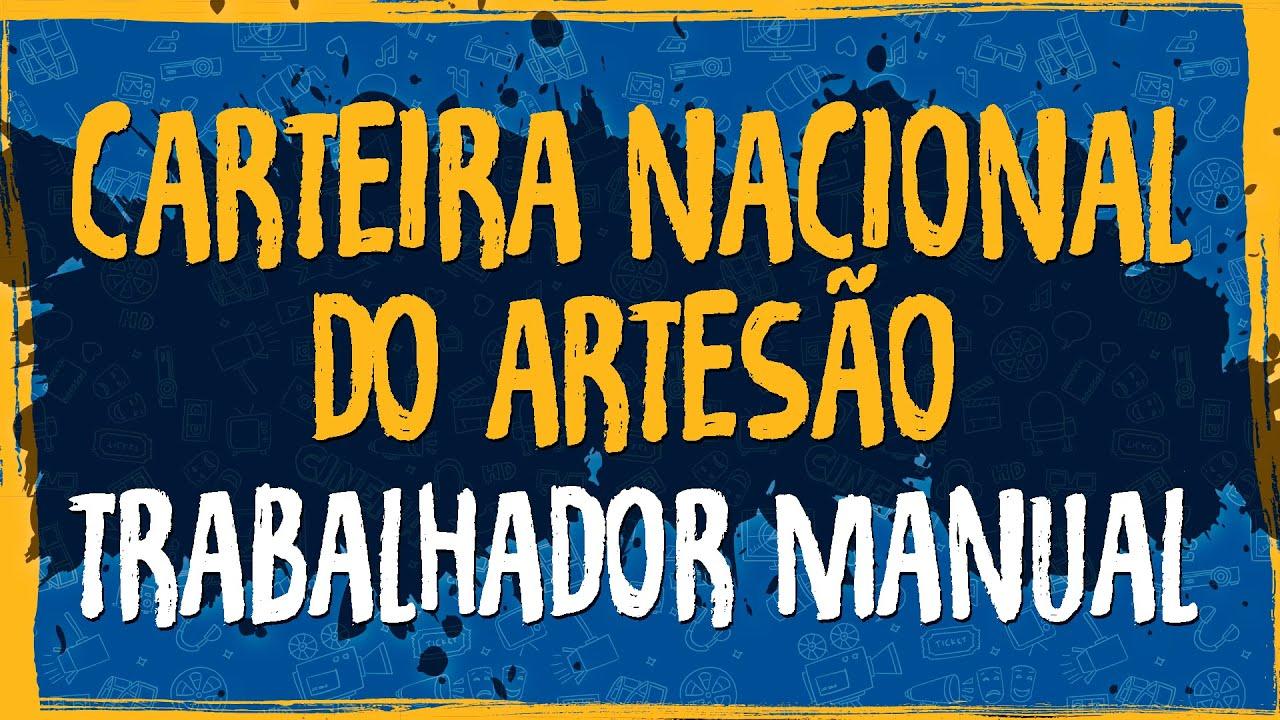 Carteira Nacional do Artesão e Trabalhador Manual