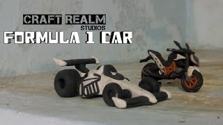 How to make a Formula one racing car / tutorial using polymer clay