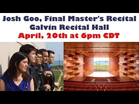 This video is from my final Master's recital at Northwestern in April of 2019!