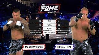 """FAME MMA 1: Marek """"Maro"""" Wilczak vs Łukasz Lupa (Cała Walka)"""
