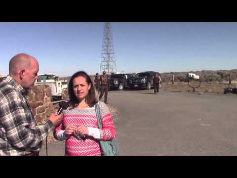 Lisa Bundy at Malheur Refuge outside Burns, Oregon
