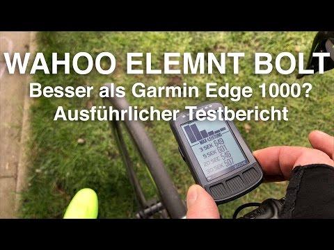 Wahoo Elemnt Bolt. Besser als Garmin EDGE 1000? Ausführlicher Testbericht/Review
