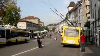 preview picture of video 'Verkehrsbetriebe Schaffhausen: Abschied von den NAW-Trolleybussen'