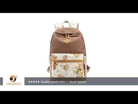 Moollyfox Damen Herren Vintage Canvas Rucksack Schulrucksack Reisetasche Casual Daypacks für Outdoor