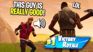 PRETENDING TO BE A NOOB AND THEN CARRYING A STREAMER ON FORTNITE! (Surprised Him On STREAM!)