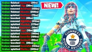 *NEW* DEATH RECORD in Fortnite Battle Royale! (Dumb Challenge)