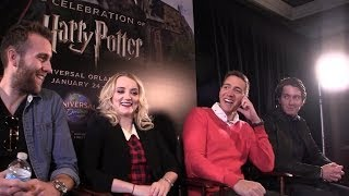 Джеймс и Оливер Фелпс, Harry Potter stars interviewed at Universal Orlando during Celebration Weekend 2014
