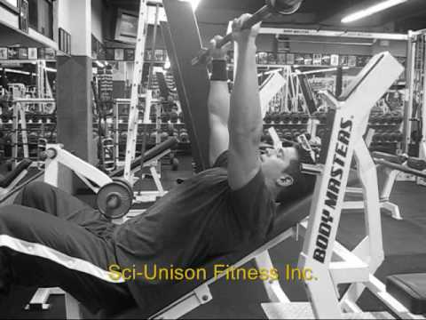 Incline Barbell Front Raises