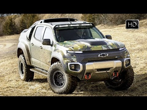 Chevrolet Colorado ZH2 Fuel Cell Electric Vehicle Concept Off Road Drive HD