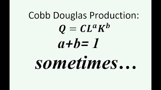 Homework Question On Cobb Douglas Production: What Is The Point?