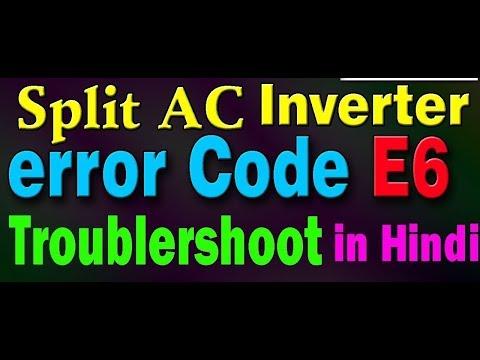 how to solutions Voltas Inverter AC Errors codes E6 E1 E3 E4