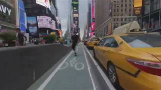 3d 180 VR ride through Manhattan