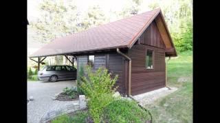 Wiata garażowa, samochodowa z drewna Firma Dom Drewna