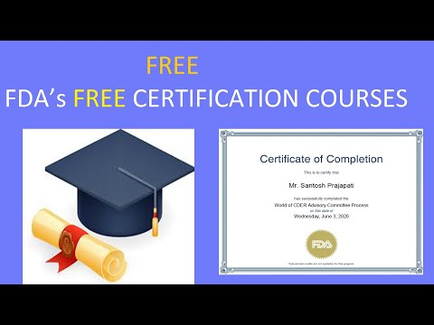 FDA's FREE CERTIFICATION COURSES | U.S. FDA ... - YouTube