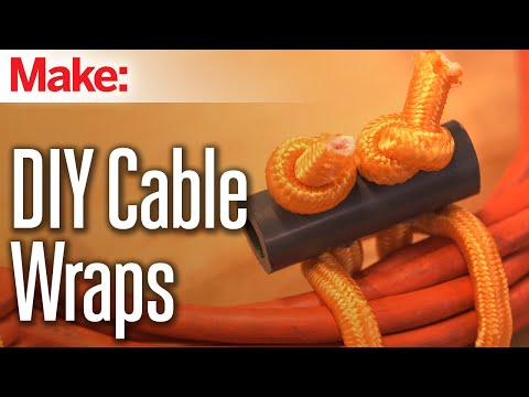 Make Your Own Cable Wraps Out Of Old Bungee Cords