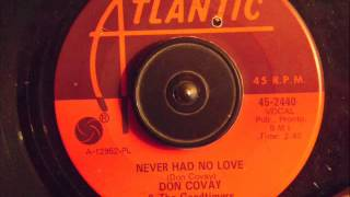 DON COVAY & THE GOODTIMERS -  NEVER HAD NO LOVE