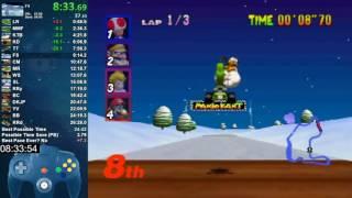 Mario Kart 64 150cc All Cups (Skips) Shortcut Speedrun 26:19 (World Record)
