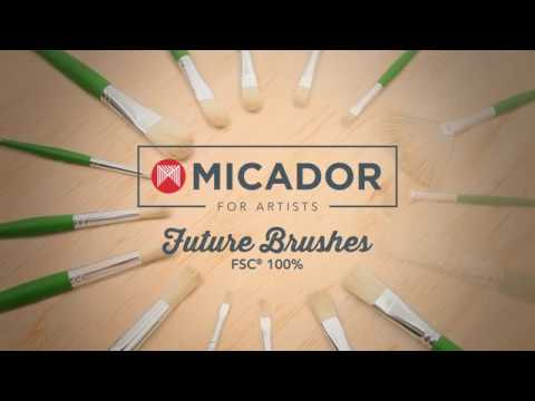 Micador For Artists Future Brushes - FSC 100% Display & Contents
