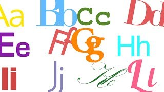 Phonics Song: ABCs For Tiny Typographers (A Is For Avenir)