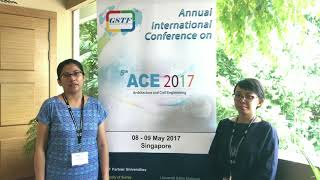 Ankhi at ACE Conference 2017 by GSTF Singapore